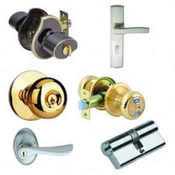 Parts of Pin tumbler door lock